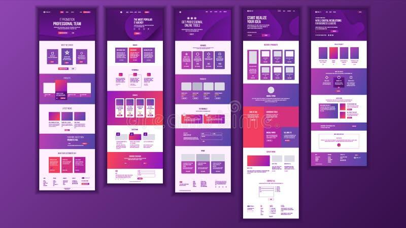 Vecteur principal de conception de page Web Style d'affaires de site Web Calibre d'atterrissage Couverture abstraite de projet Cl illustration de vecteur