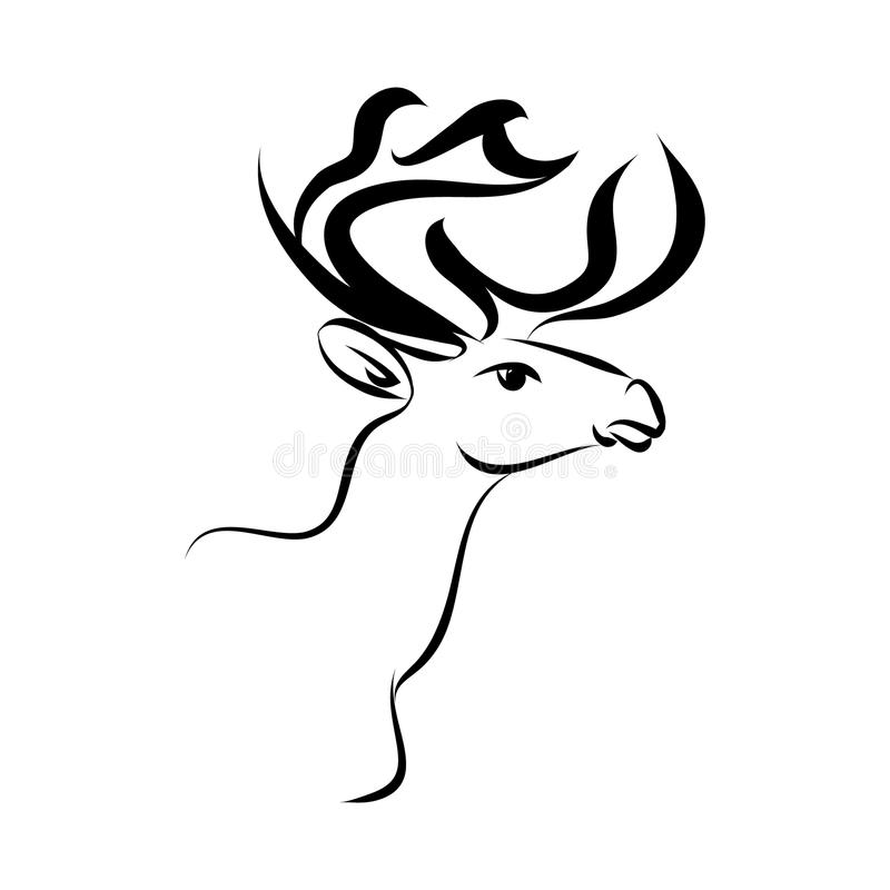 Vecteur principal de logo de cerfs communs illustration libre de droits
