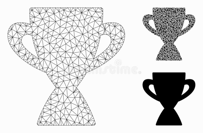 Vecteur professionnel Mesh Network Model de tasse et icône de mosaïque de triangle illustration libre de droits