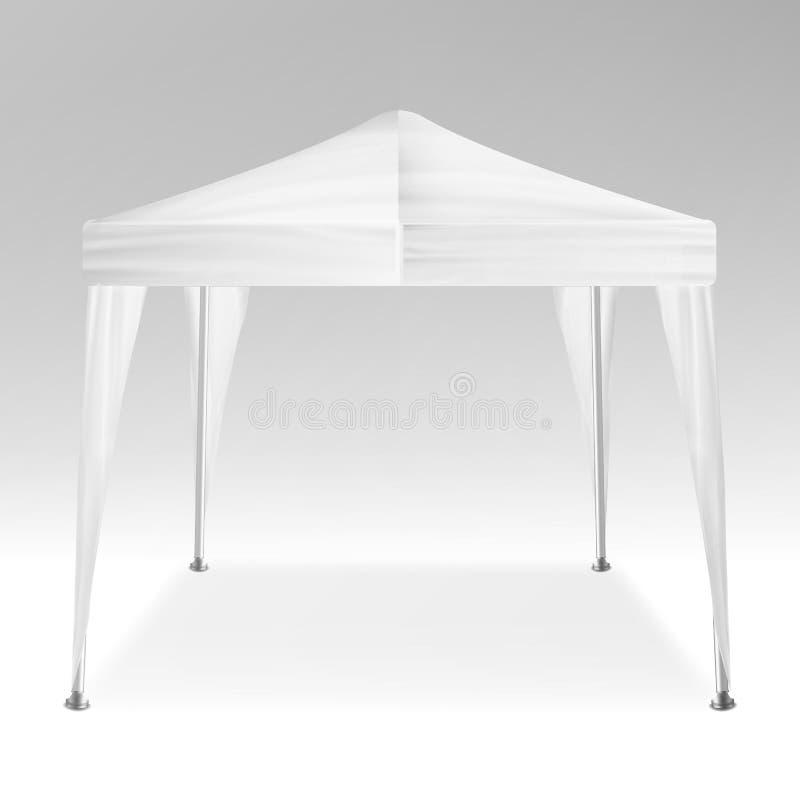 Vecteur promotionnel de tente Faire de la publicité le chapiteau mobile de la publicité d'événement de tente automatique extérieu illustration de vecteur