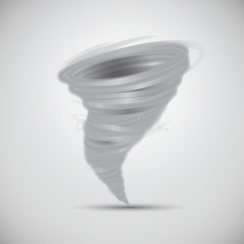 Vecteur puissant d'isolement de tornade illustration de vecteur