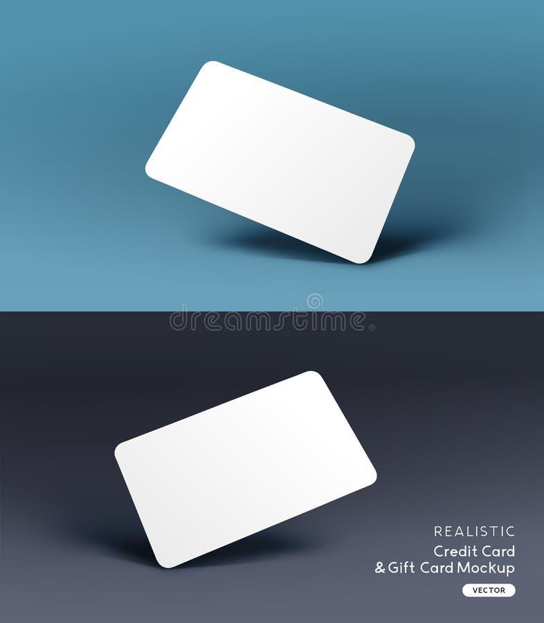 Vecteur réaliste de calibre de maquette de carte de crédit illustration de vecteur