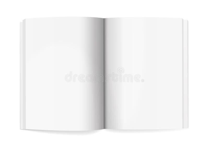 Vecteur réaliste de calibre de maquette de diffusion de magazine photo libre de droits