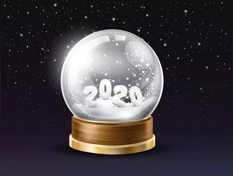 Vecteur réaliste de souvenir de vacances de nouvelle année illustration libre de droits