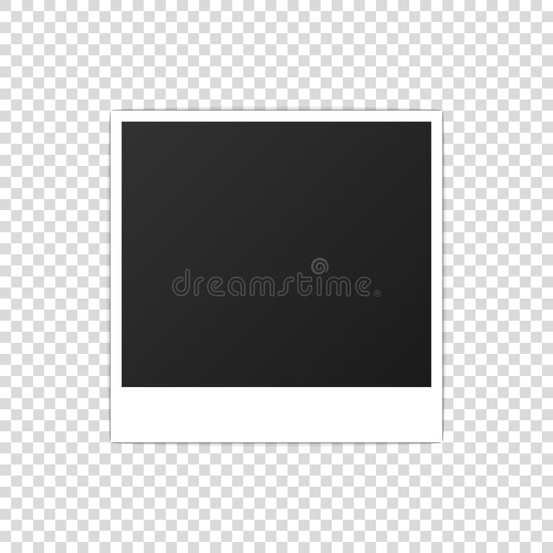 Vecteur réaliste imprimé de photoframe de maquette de papier de photo illustration stock