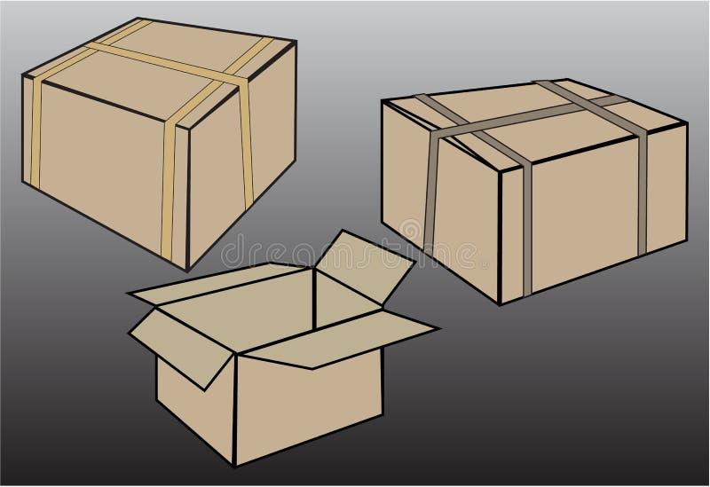 Download Vecteur Réglé De Boîte De Carton Illustration de Vecteur - Illustration du styliste, conception: 45353362