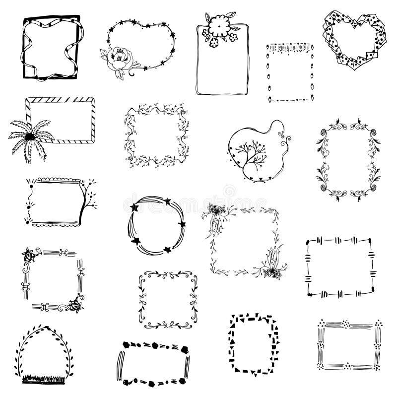 Vecteur r gl de dessin de cadre de tableau sur le blanc d 39 isolement illustration de vecteur - Cadre photo dessin ...