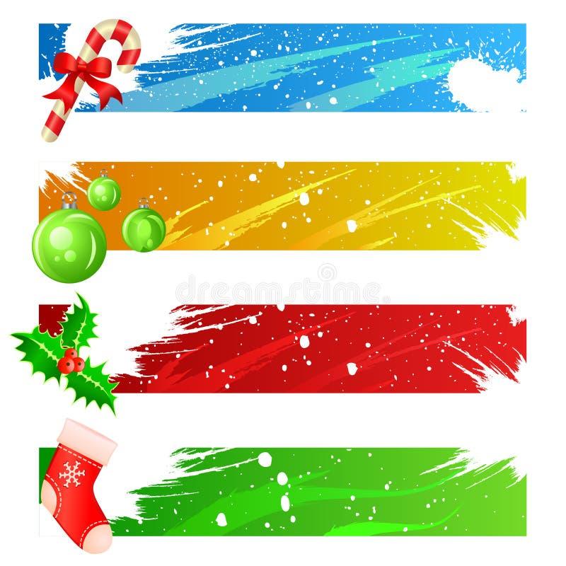 vecteur réglé de Noël de drapeau illustration libre de droits