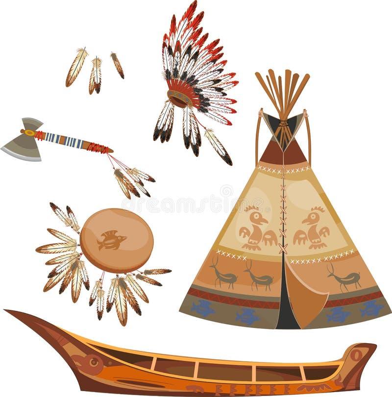 vecteur réglé de trame indienne d'illustration illustration stock