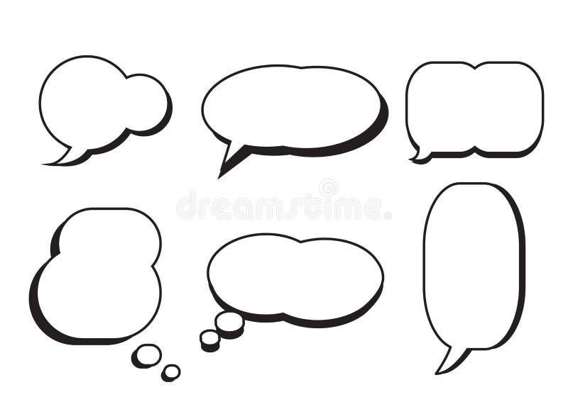 Vecteur réglé des textes de la parole d'étoile comique de bulle illustration stock