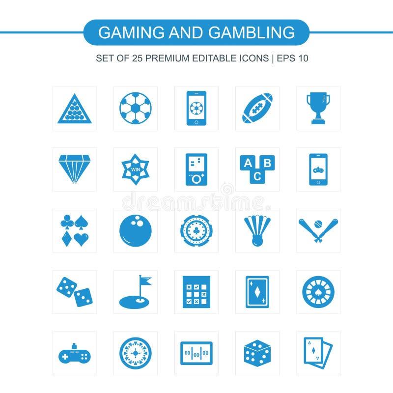 Vecteur réglé par icônes de jeu illustration de vecteur