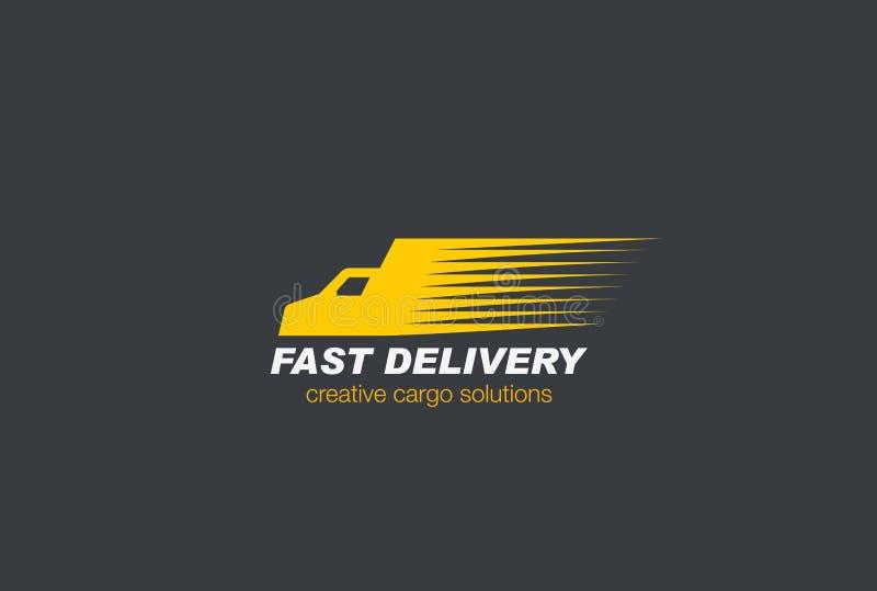 Vecteur rapide de Logo Cargo de voiture de livraison illustration stock