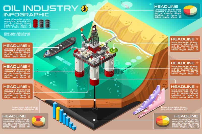 Vecteur Rig Oil Infographic Gasoline illustration de vecteur