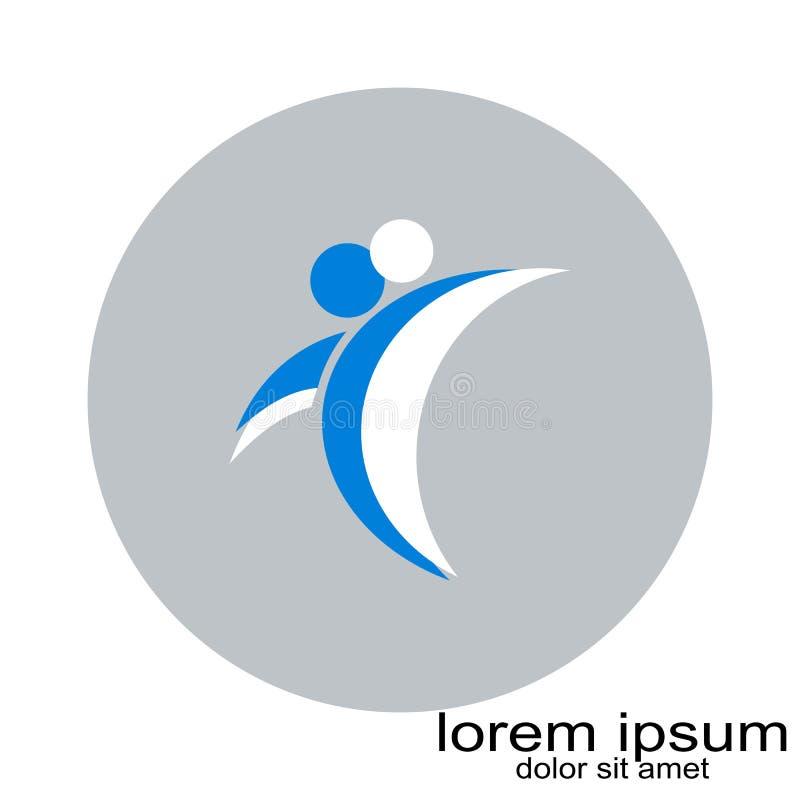 Vecteur rond créatif de logo de personnes de conception d'échantillon illustration de vecteur