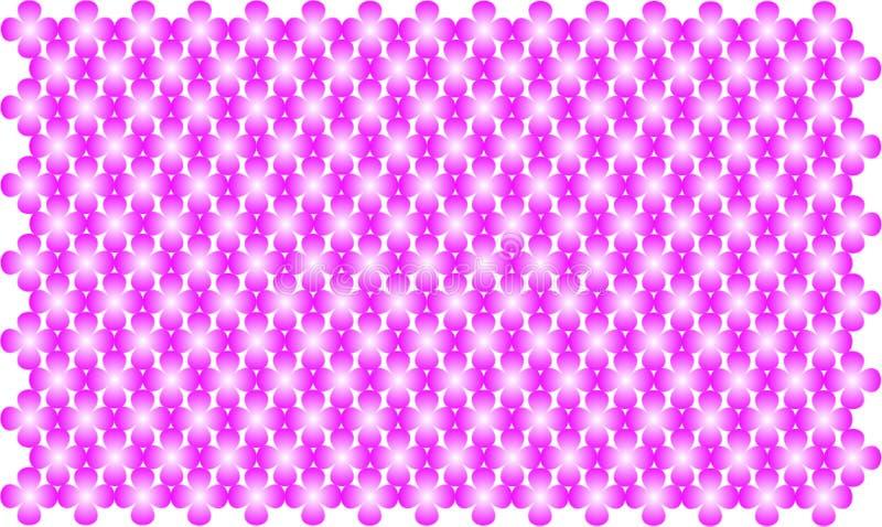 Vecteur rose de scintillement de fleur sur le fond blanc images libres de droits