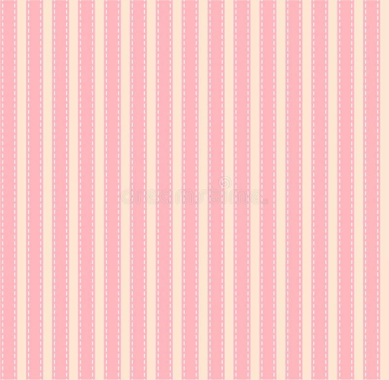 Vecteur rose rayé de texture de tissu illustration libre de droits