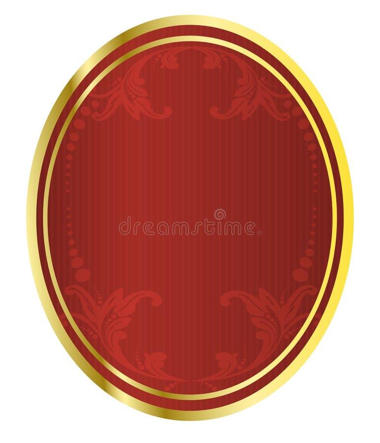vecteur rouge d'étiquette d'illustration de bière illustration libre de droits