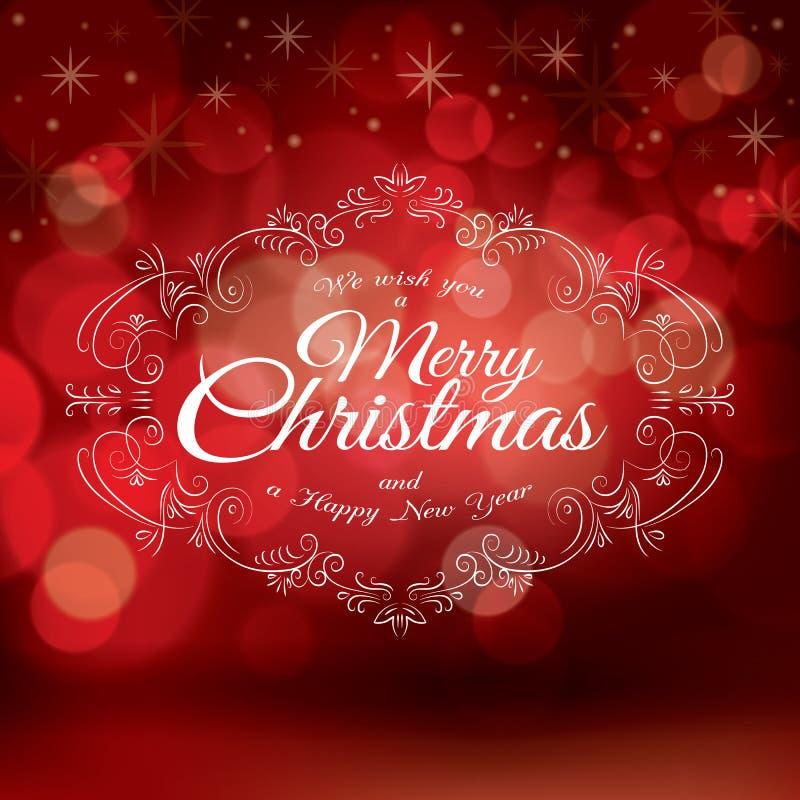 Vecteur rouge de design de carte de salutation de Noël illustration libre de droits