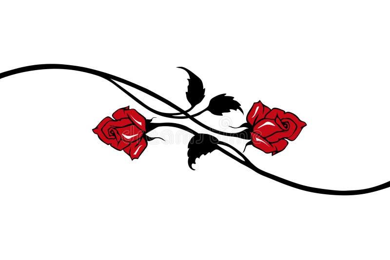 vecteur rouge de roses illustration stock