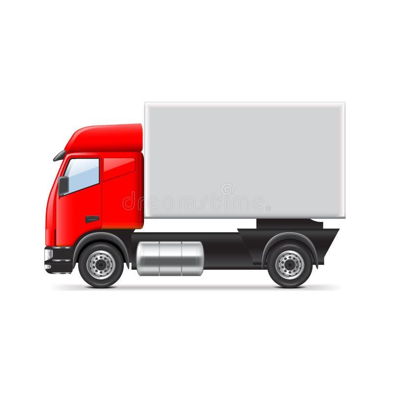 Vecteur rouge et blanc de camion illustration libre de droits