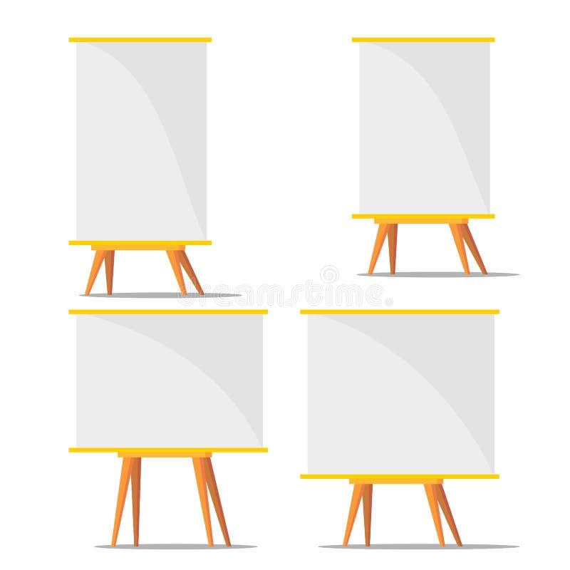 Vecteur s'exerçant d'ensemble de carton de blanc d'affaires illustration stock