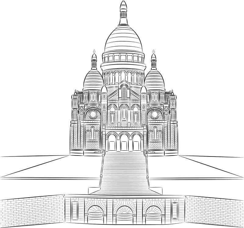 Vecteur Sacre Coeur illustration de vecteur