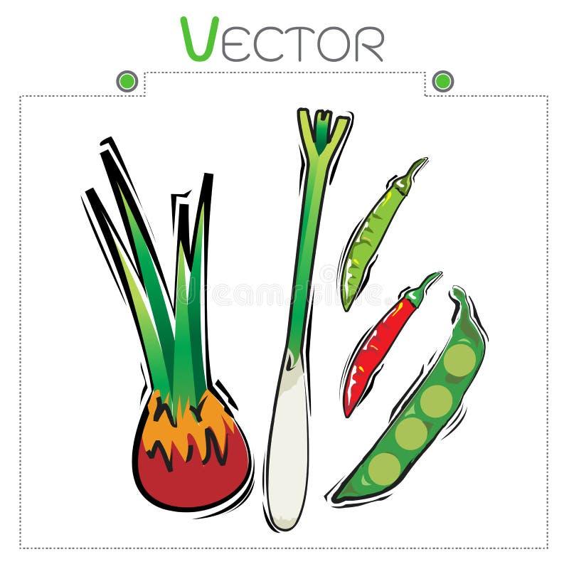 Vecteur sans couture assorti de modèle de légumes illustration de vecteur