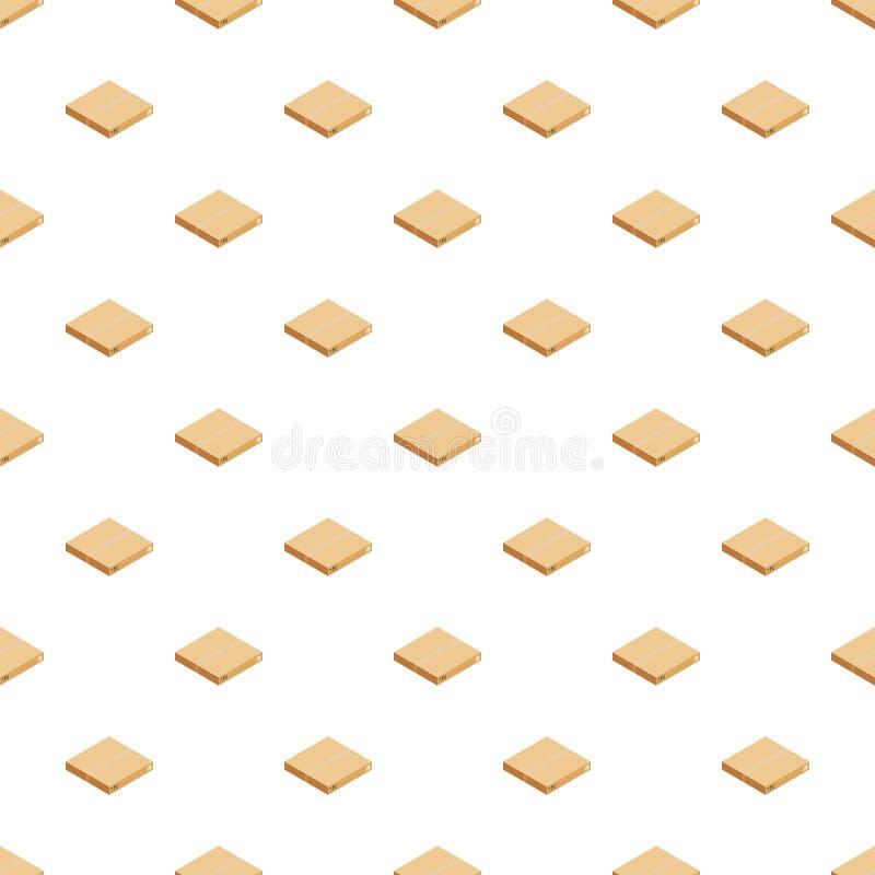Vecteur sans couture de empaquetage de modèle de boîte illustration stock