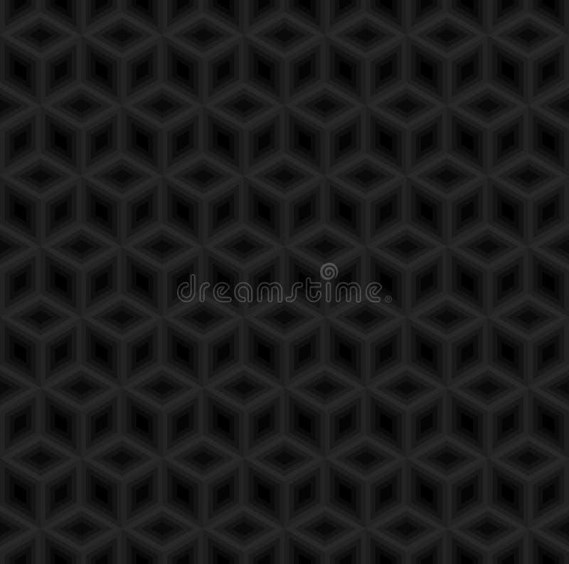 Vecteur sans couture de fond de modèle noir de cubes illustration de vecteur