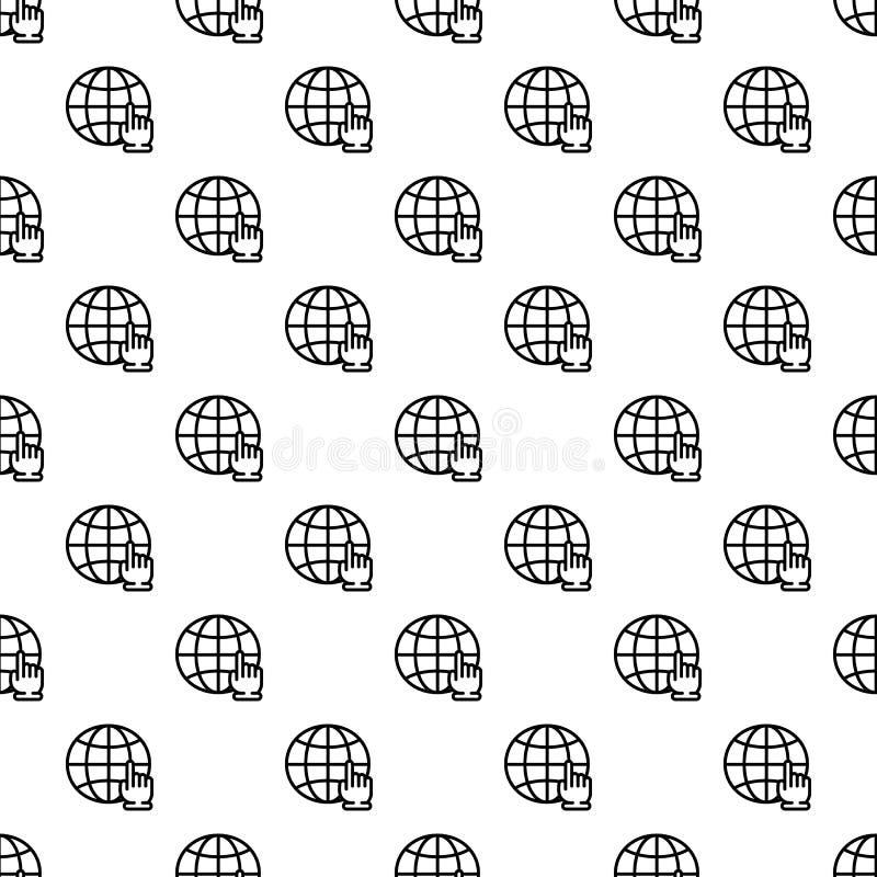 Vecteur sans couture de main de modèle global de clic illustration de vecteur