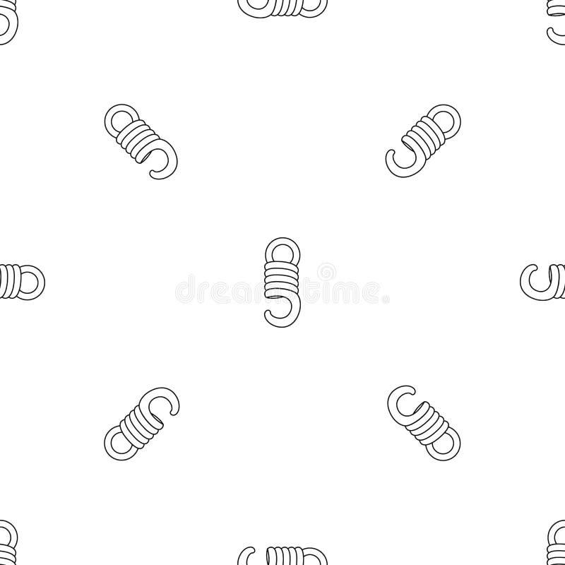 Vecteur sans couture de modèle élastique de bobine illustration stock