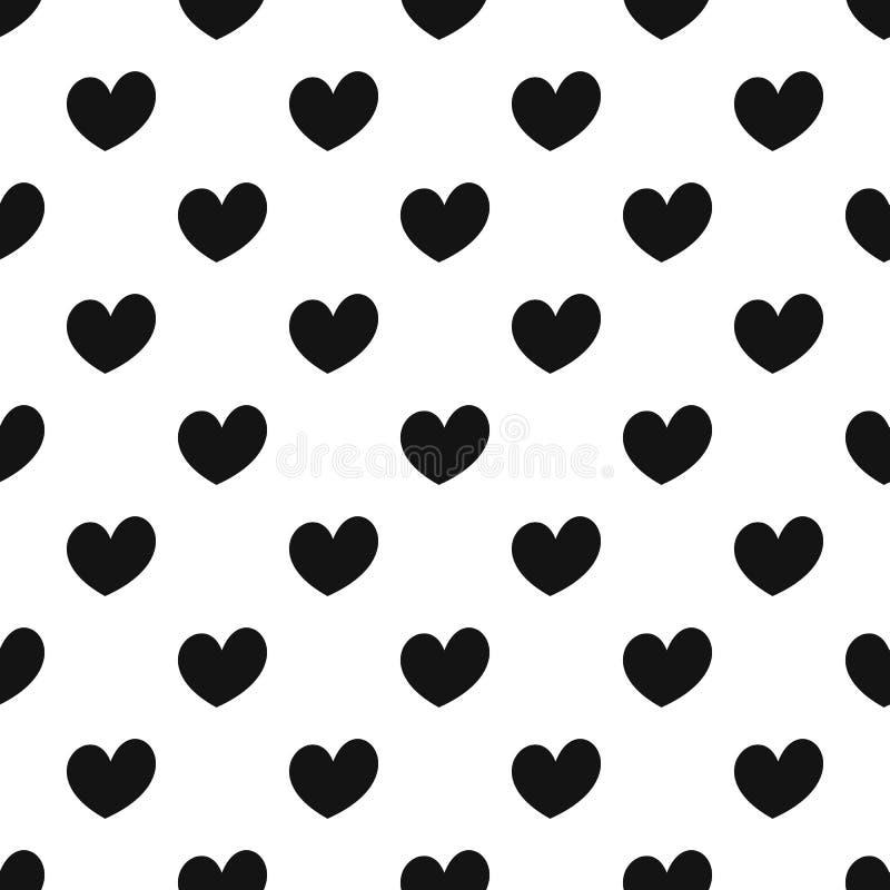Vecteur sans couture de modèle ardent de coeur illustration libre de droits