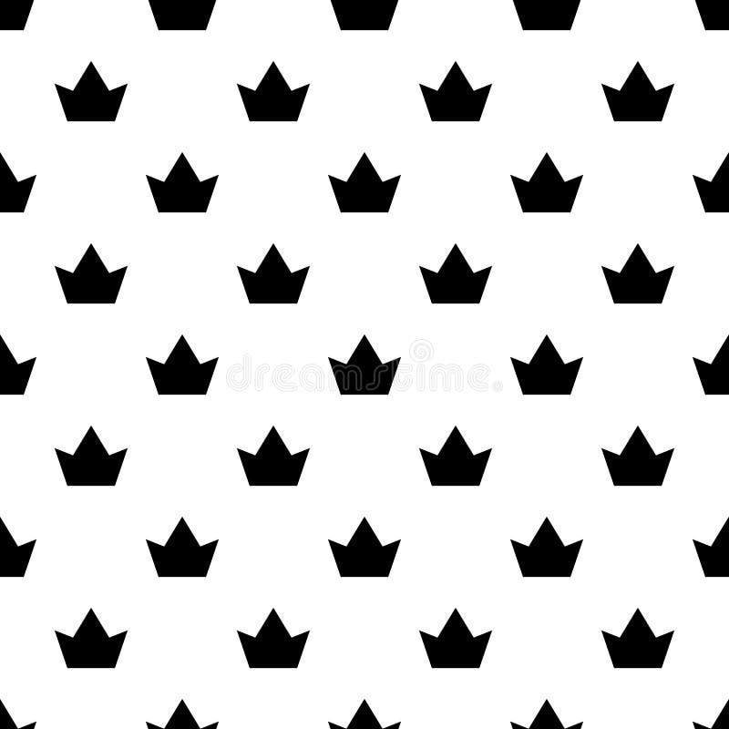 Vecteur sans couture de modèle de couronne illustration libre de droits