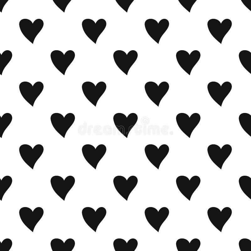 Vecteur sans couture de modèle cruel de coeur illustration stock