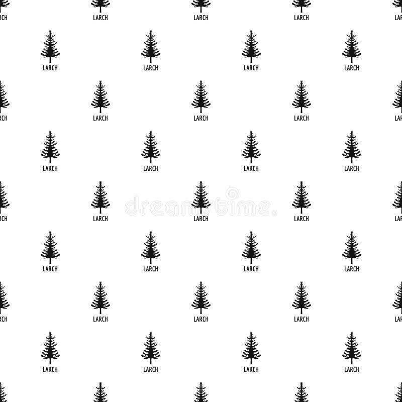Vecteur sans couture de modèle d'arbre de mélèze illustration stock