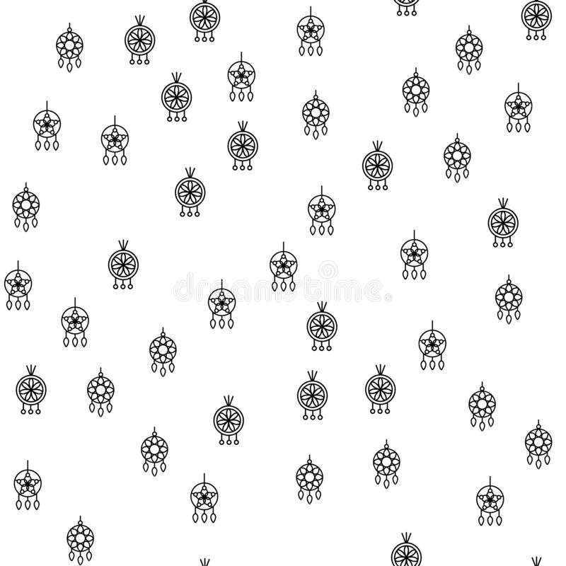 Vecteur sans couture de modèle de diverses boucles d'oreille de bijoux illustration stock