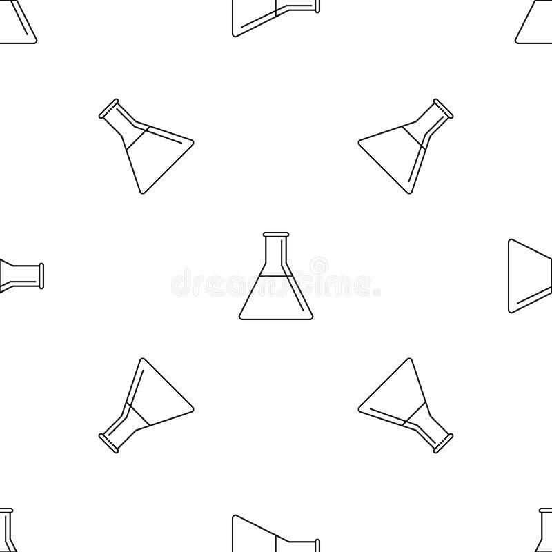 Vecteur sans couture de modèle de flacon d'essence illustration de vecteur