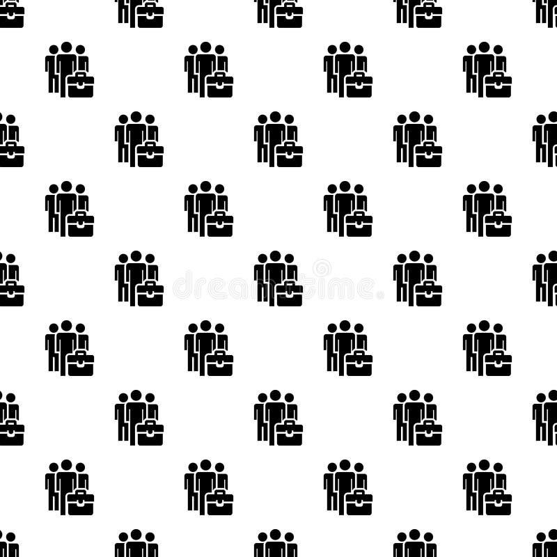 Vecteur sans couture de modèle de groupe d'hommes d'affaires illustration libre de droits