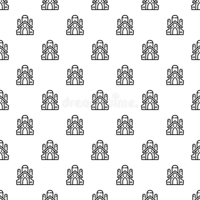 Vecteur sans couture de modèle juif d'église illustration stock