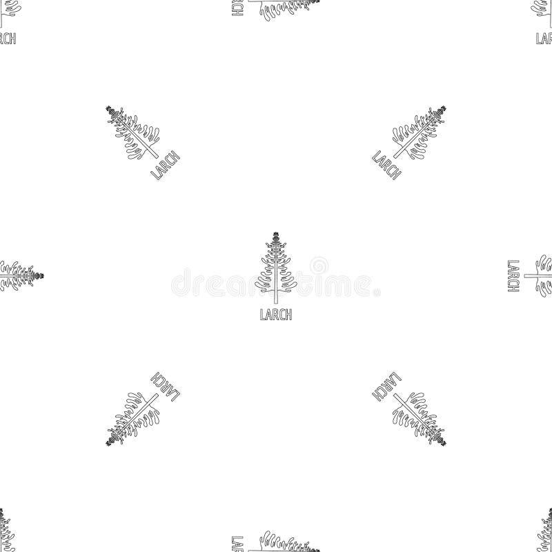 Vecteur sans couture de modèle de mélèze illustration de vecteur