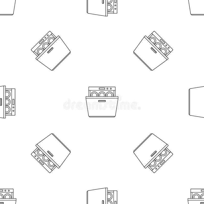 Vecteur sans couture de modèle moderne de lave-vaisselle illustration de vecteur