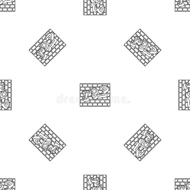Vecteur sans couture de modèle de mur de briques de coup sec et dur illustration de vecteur