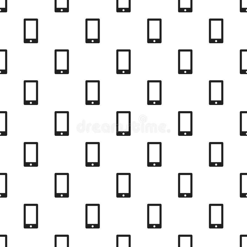 Vecteur sans couture de modèle de Smartphone illustration stock