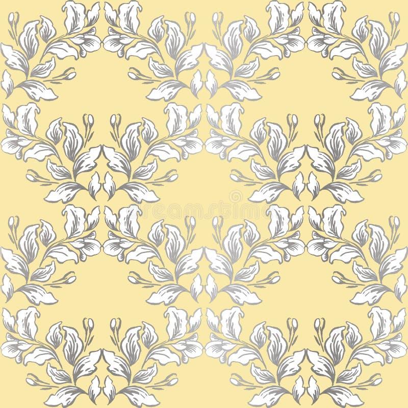 Vecteur sans couture de mod?le baroque de cru ? l'arri?re-plan graphique de style de fleur classique pour le contexte, calibre, c illustration de vecteur