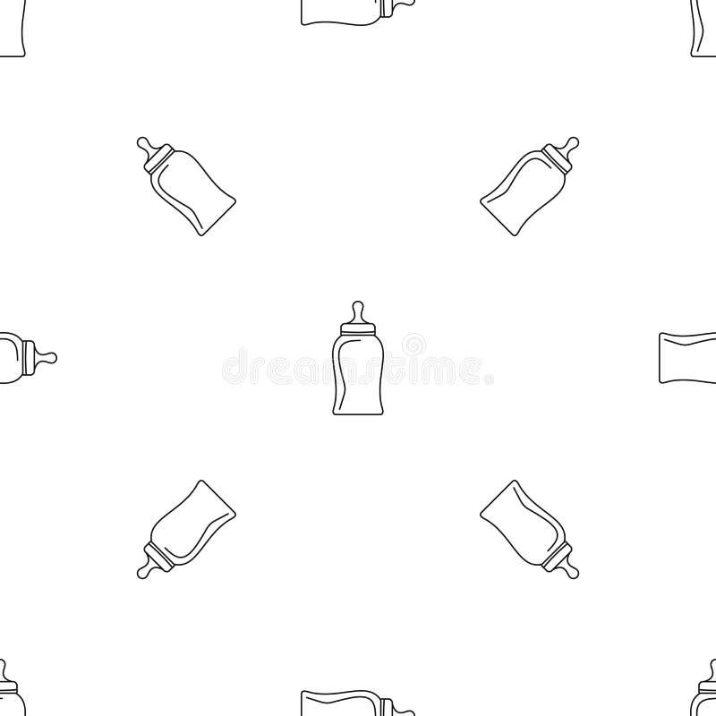 Vecteur sans couture de mod?le de mamelon de bouteille illustration libre de droits