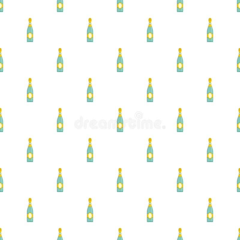 Vecteur sans couture de mod?le sec de champagne illustration stock