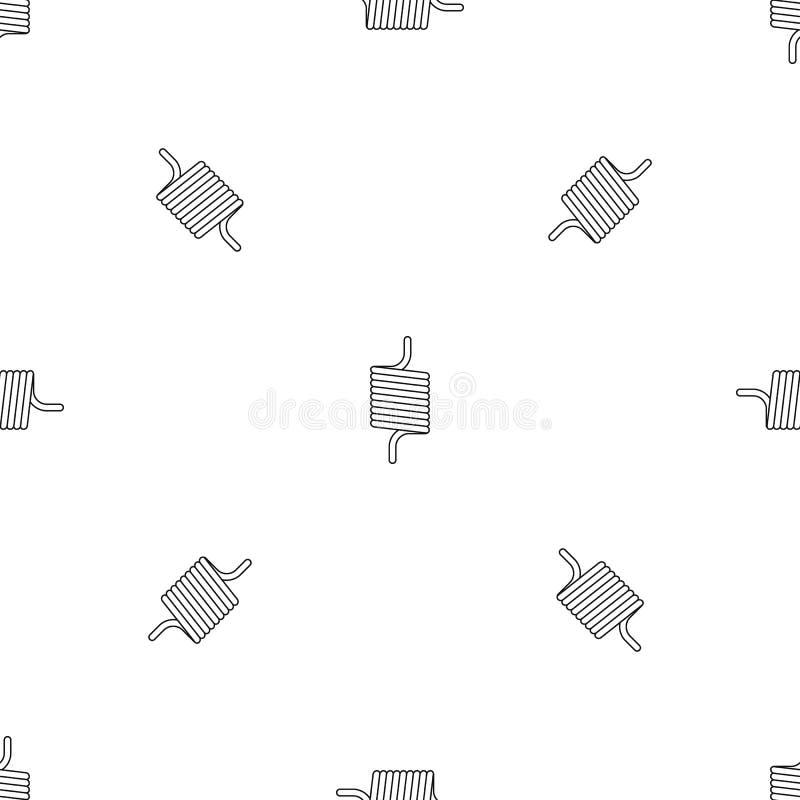 Vecteur sans couture de ressort de modèle élastique de fil illustration libre de droits
