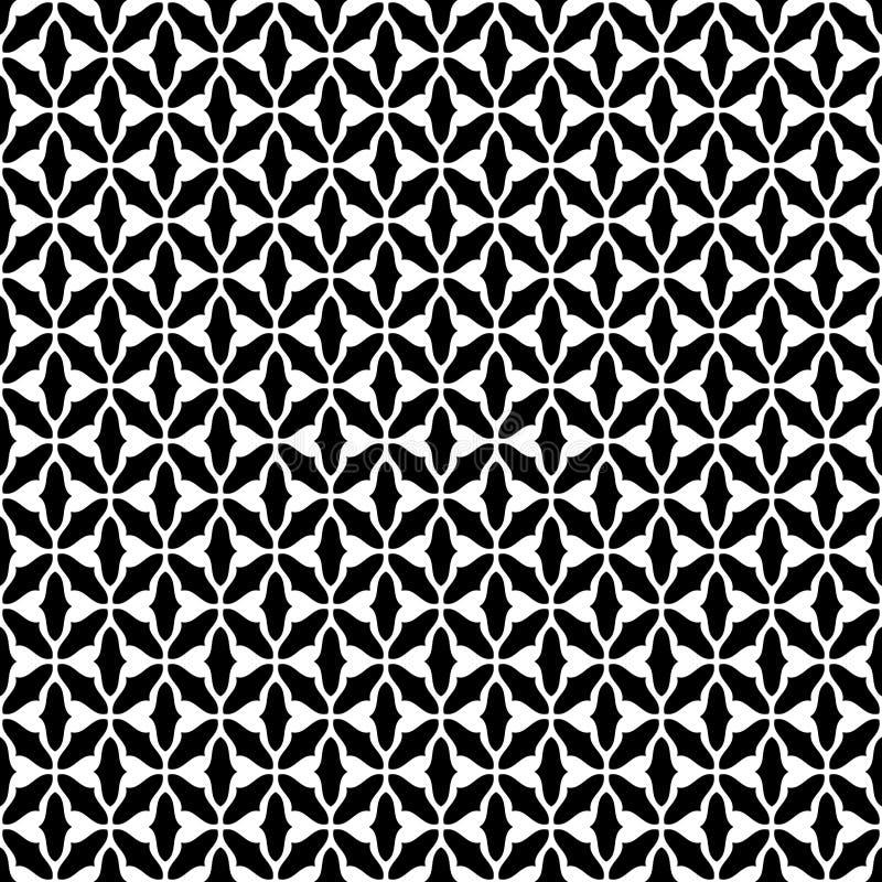 Vecteur sans couture géomagnétique noir et blanc de modèle illustration stock