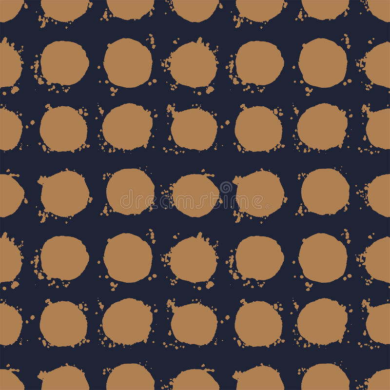 Vecteur sans couture tiré par la main de modèle de point de polka illustration libre de droits