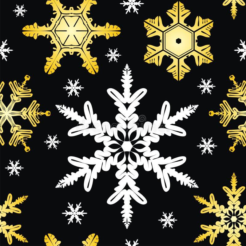 vecteur sans joint de flocons de neige d'ornement illustration libre de droits